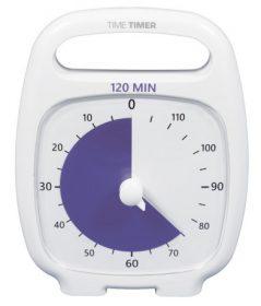 Time Timer Plus weiß mit 120 Minuten
