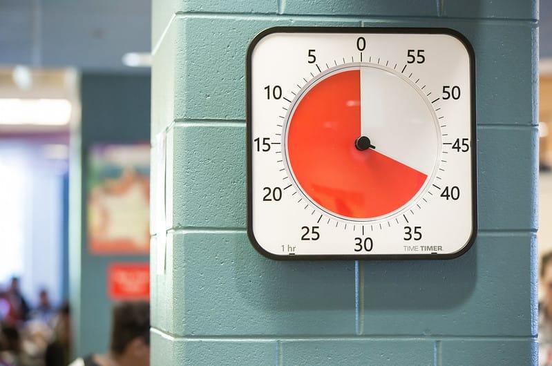 Time Timer Max an Wand montiert