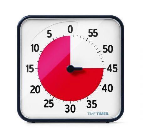 Gruppen Time Timer - Größe 18cm x 18cm. Neue verbesserte Version